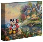 Mickey and Minnie – Sweetheart Cove – 8″ x 10″ Gallery Wrapped Canvas