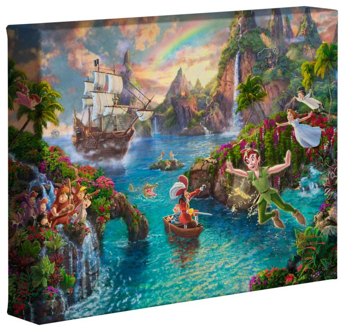 Disney Peter Pan's Never Land – 8″ x 10″ Gallery Wrapped Canvas