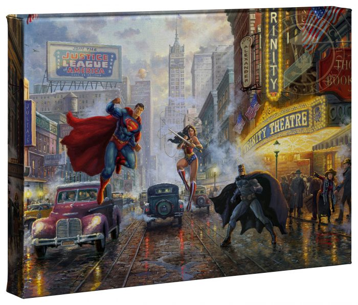 Batman, Superman and Wonder Woman 10″ x 14″ Gallery Wrapped Canvas