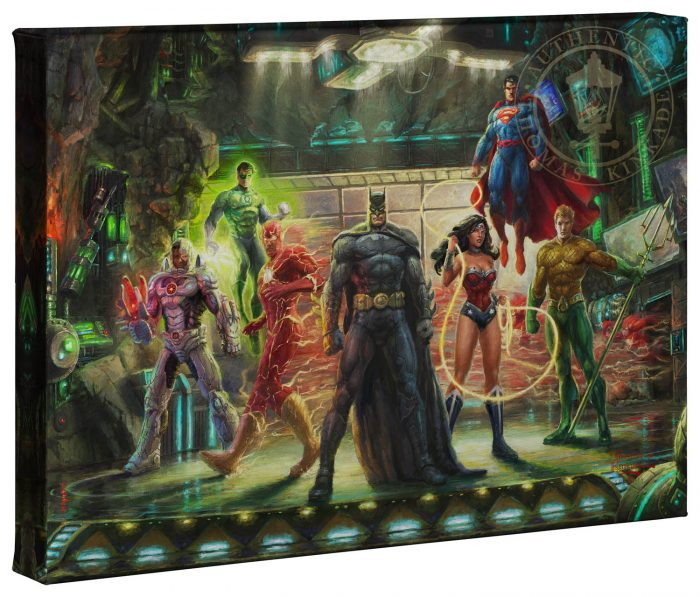 The Justice League – 10″ x 14″ Gallery Wrapped Canvas