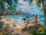 Mickey and Minnie in Hawaii – Limited Edition Canvas