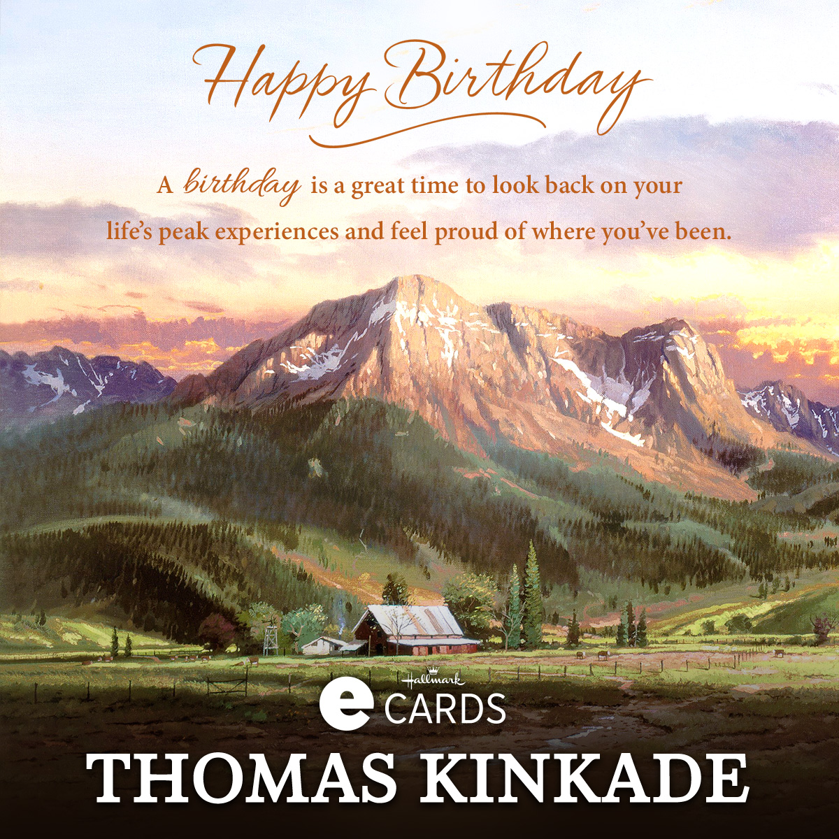 New Hallmark Birthday Ecard Dusk In The Valley The Thomas
