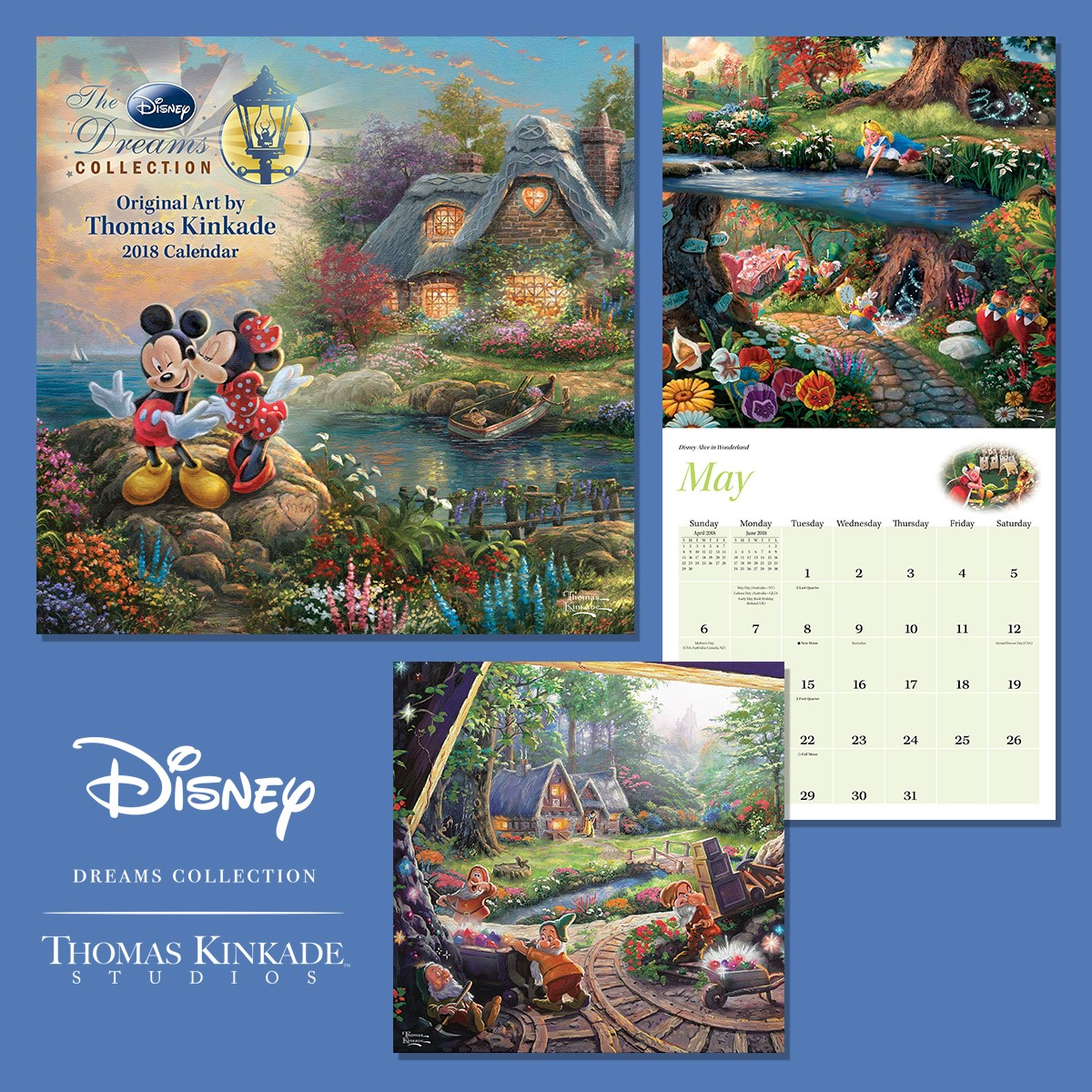 2018 disney dreams collection wall calendar