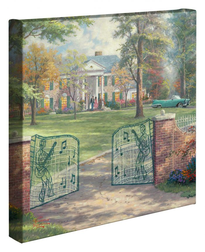 Graceland® 50th Anniversary – 14″ x 14″ Gallery Wrapped Canvas (Frameless)