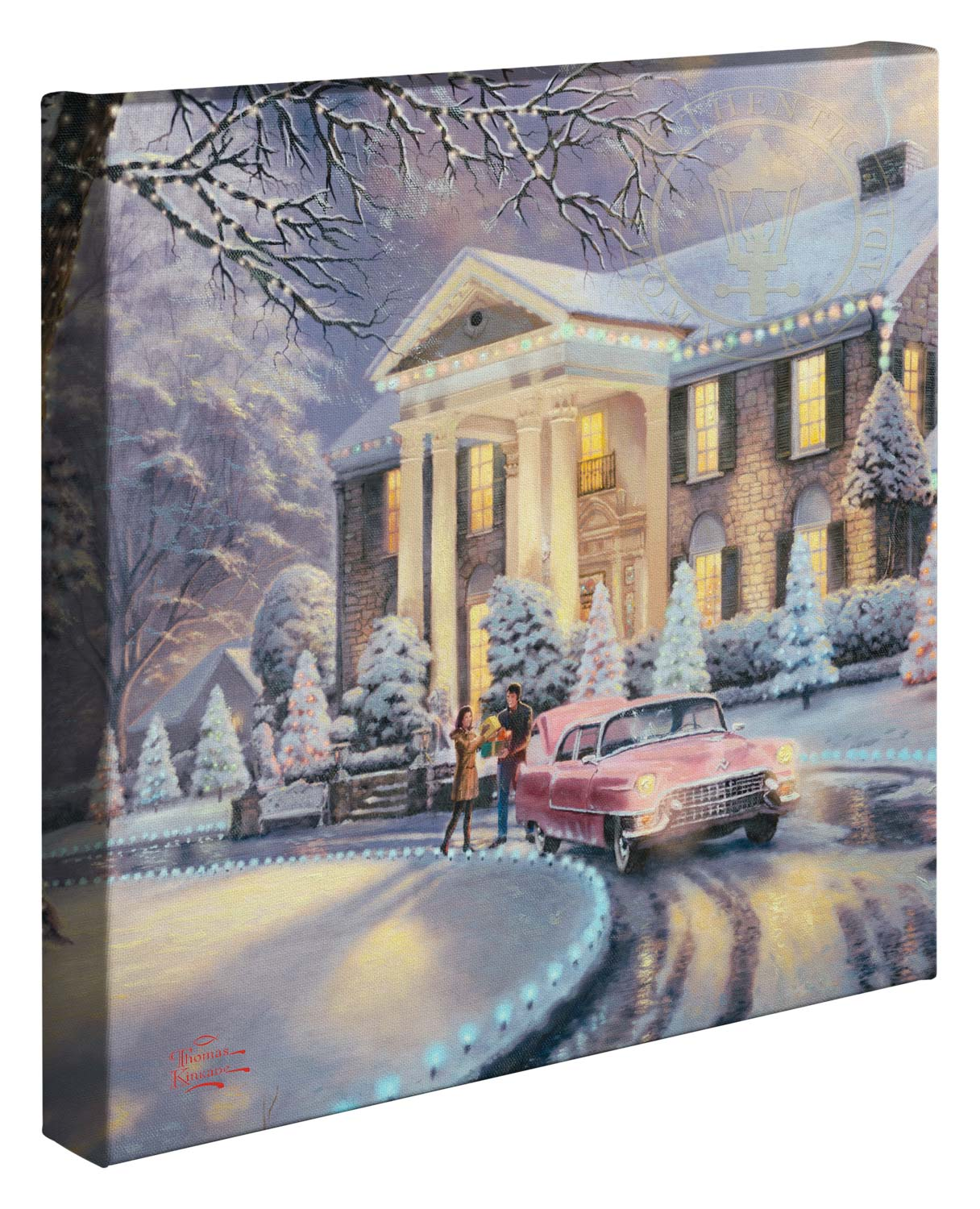 Christmas In Graceland.Graceland Christmas 14 X 14 Gallery Wrapped Canvas Frameless