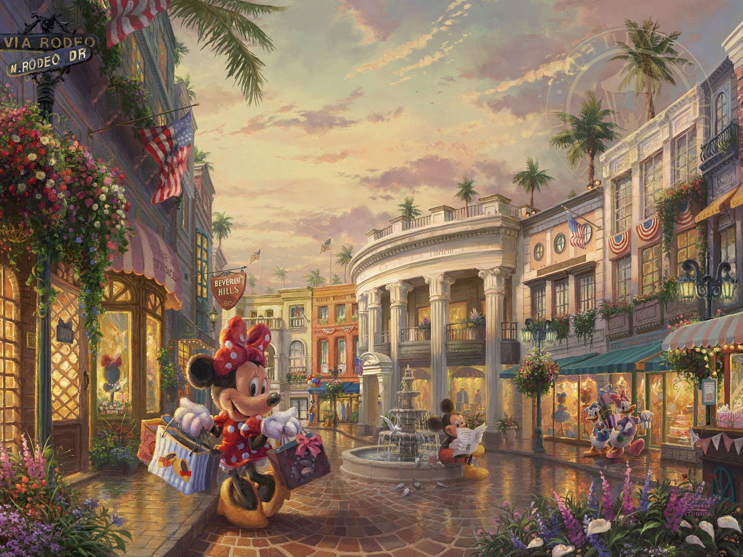 Minnie Rocks The Dots On Rodeo Drive Limited Edition Art