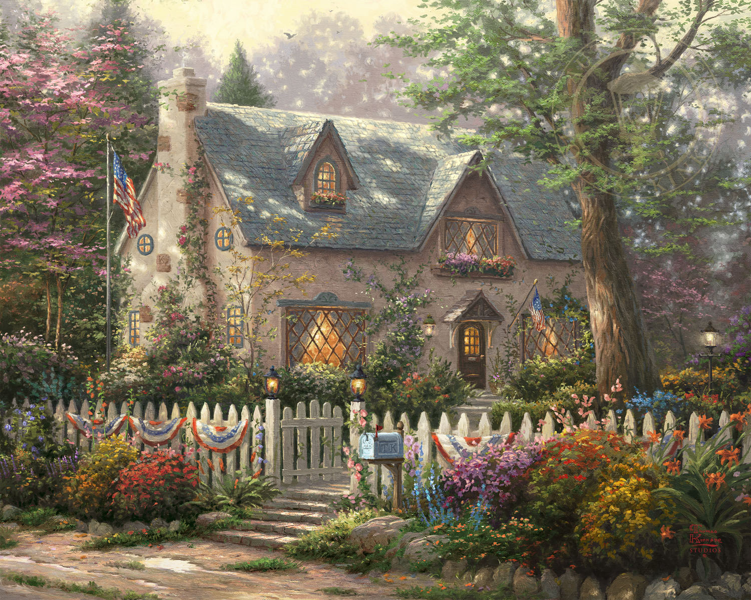 Home Entrances Liberty Lane Cottage The Thomas Kinkade Company