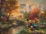 Mickey and Minnie – Sweetheart Central Park – Limited Edition Canvas