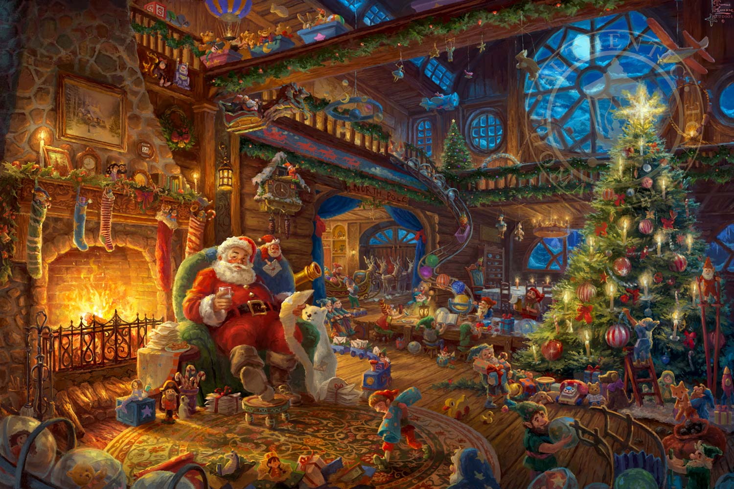 Santa S Workshop The Thomas Kinkade Company