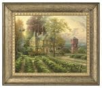 Abundant Harvest – 16″ x 20″ Brushstroke Vignette (Burnished Gold Frame)