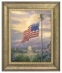 Americas Pride – 16″ x 20″ Brushstroke Vignette (Burnished Gold Frame)