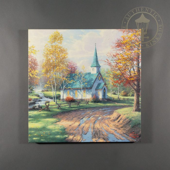 Aspen Chapel, The – 20″ x 20″ Gallery Wrapped Canvas