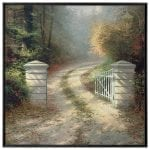 The Autumn Gate – 36″ x 36″ Framed Canvas Wall Murals