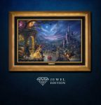 Beauty and the Beast Dancing in the Moonlight – Jewel Edition Art