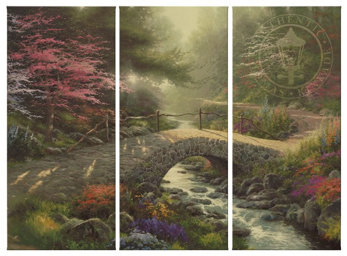 Bridge of Faith – 36″ x 48″ (Set of 3) Triptych Giclee Canvas