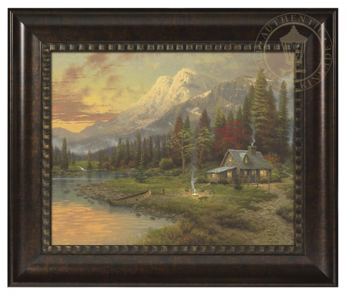 Evening Majesty – 16″ x 20″ Brushstroke Vignette (Rich Burl Frame)