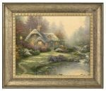 Everett's Cottage – 16″ x 20″ Brushstroke Vignette (Burnished Gold Frame)