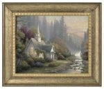Forest Chapel – 16″ x 20″ Brushstroke Vignette (Burnished Gold Frame)