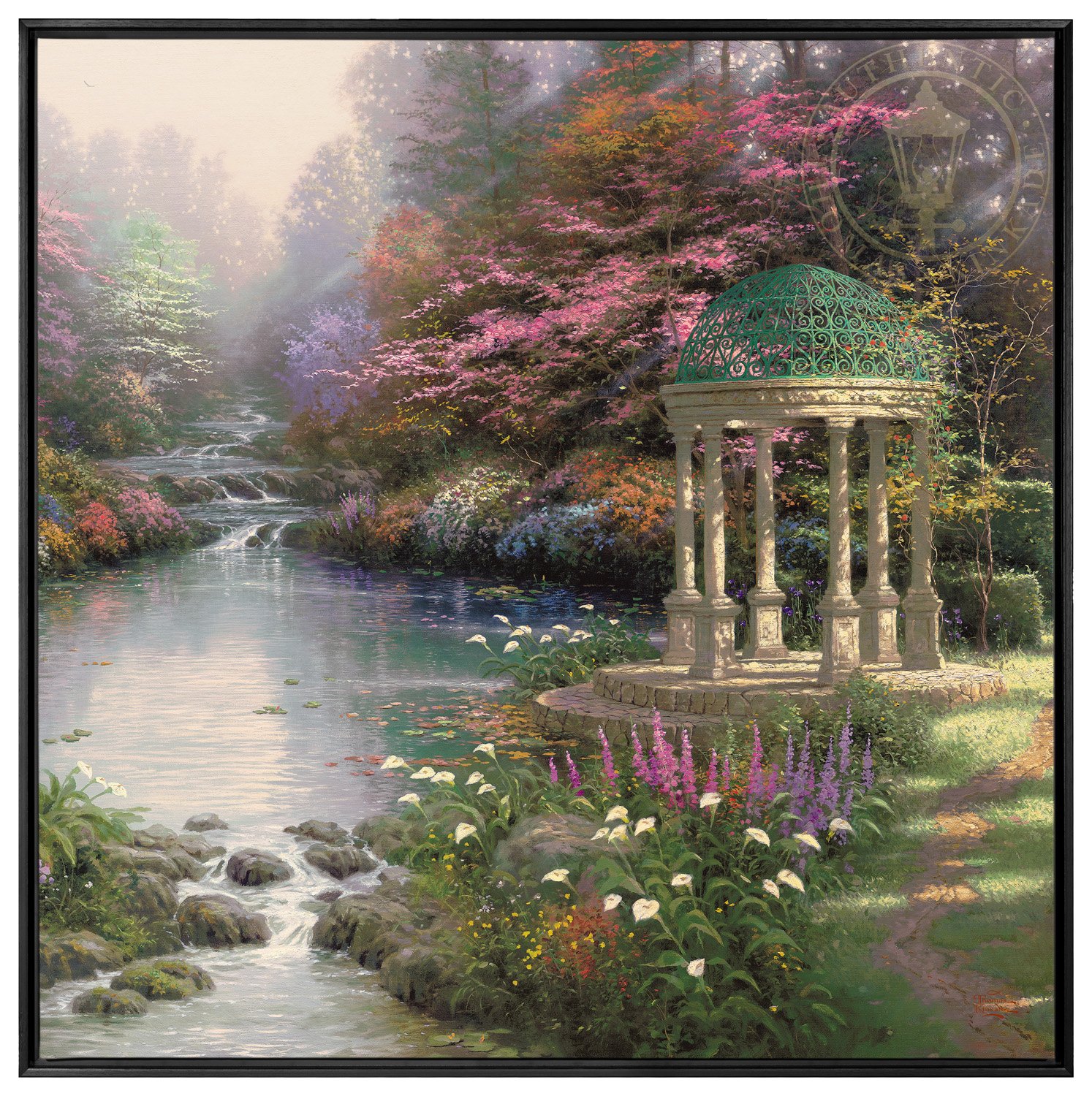 The Garden of Payer 36 x 36 Framed Canvas Wall Murals The