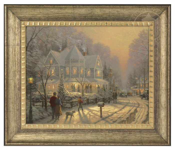 Holiday Gathering – 16″ x 20″ Brushstroke Vignette (Burnished Gold Frame)