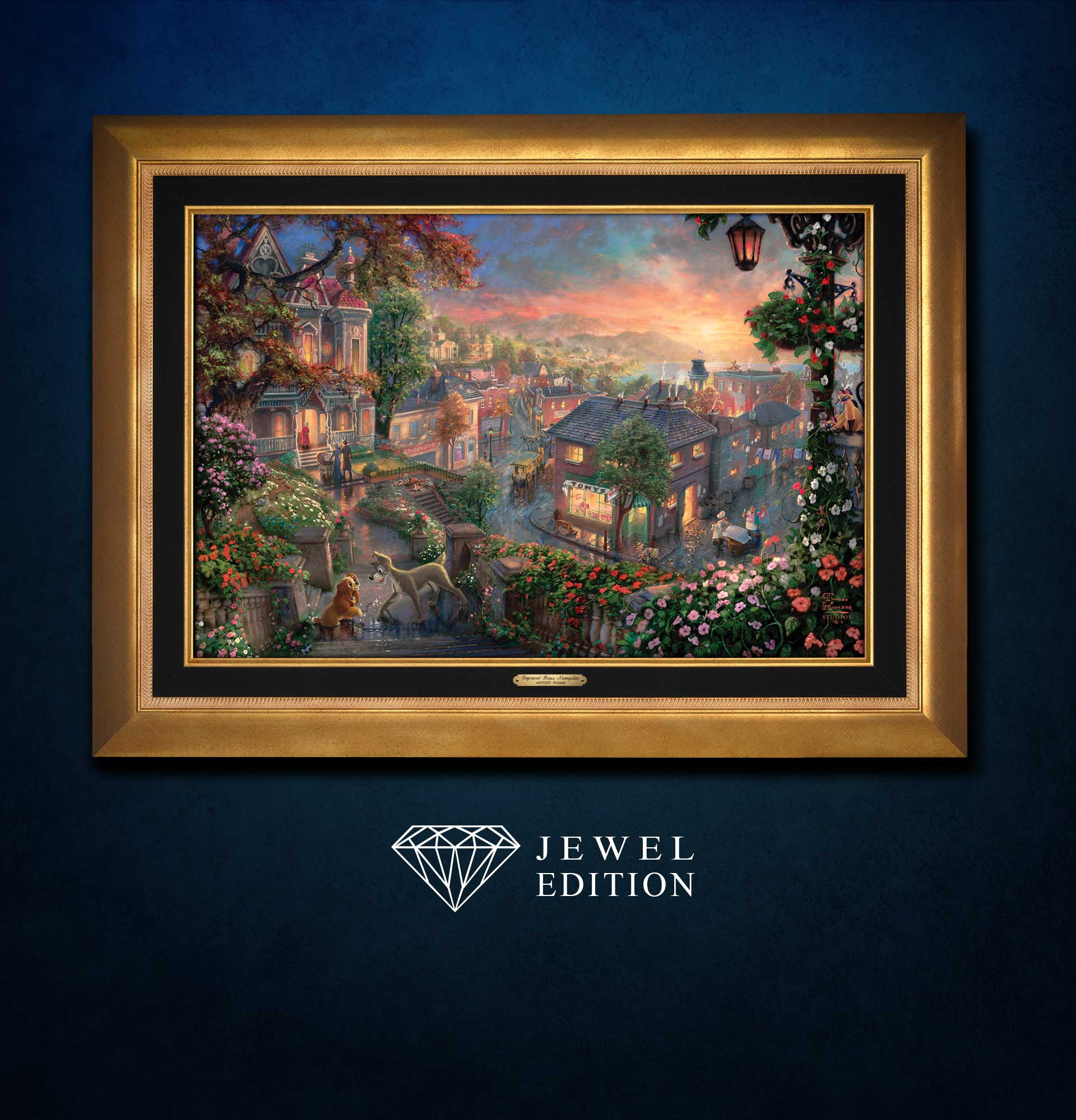 Lady And The Tramp Jewel Edition Art Thomas Kinkade Studios