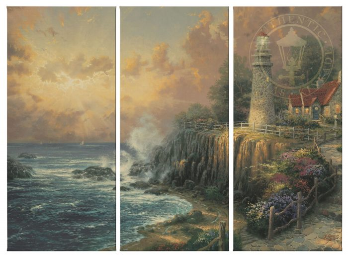 The Light of Peace – 36″ x 48″ (Set of 3) Triptych Giclee Canvas