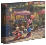 Mickey & Minnie Sweetheart Cafe   – 8″ x 10″ Gallery Wrapped Canvas