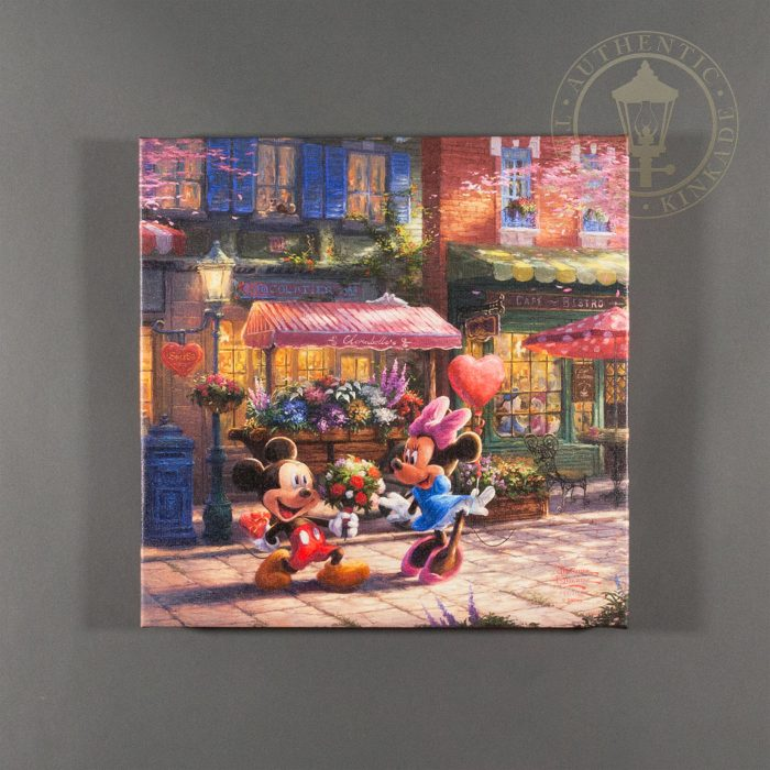 Mickey and Minnie Sweetheart Café – 14″ x 14″ Gallery Wrapped Canvas