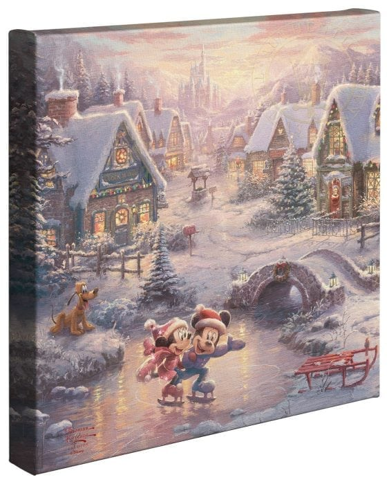 Mickey & Minnie Sweetheart Holiday  – 14″ x 14″ Gallery Wrapped Canvas