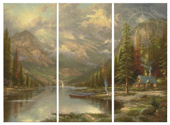 Mountain Majesty – 36″ x 48″ (Set of 3) Triptych Giclee Canvas