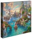Disney Peter Pan's Never Land – 14″ x 14″ Gallery Wrapped Canvas