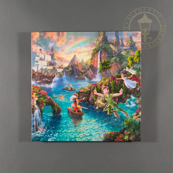 Peter Pan's Never Land – 14″ x 14″ Gallery Wrapped Canvas