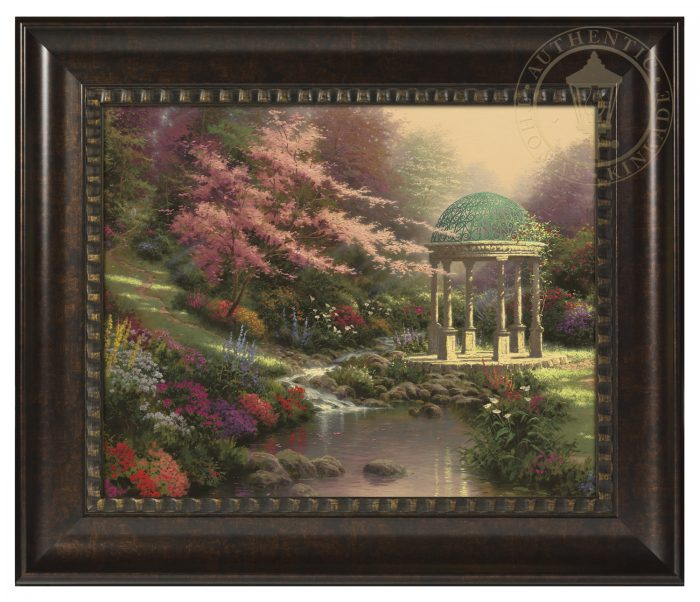 Pools of Serenity – 16″ x 20″ Brushstroke Vignette (Rich Burl Frame)