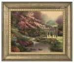 Pools of Serenity – 16″ x 20″ Brushstroke Vignette (Burnished Gold Frame)