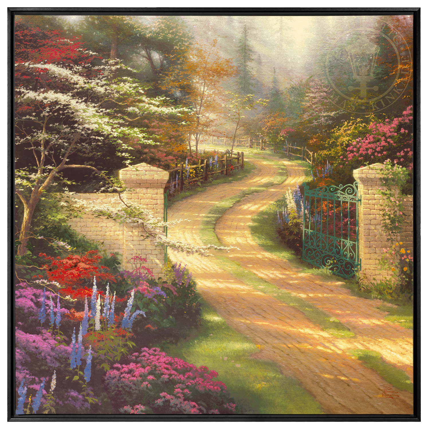 Spring Gate – 36″ x 36″ Framed Canvas Wall Murals | The Thomas ...