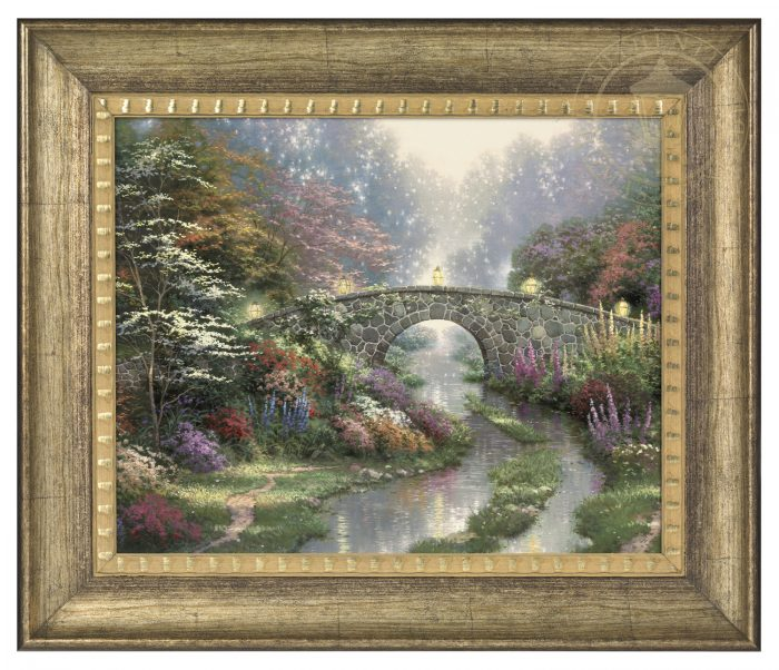 Stillwater Bridge – 16″ x 20″ Brushstroke Vignette (Burnished Gold Frame)