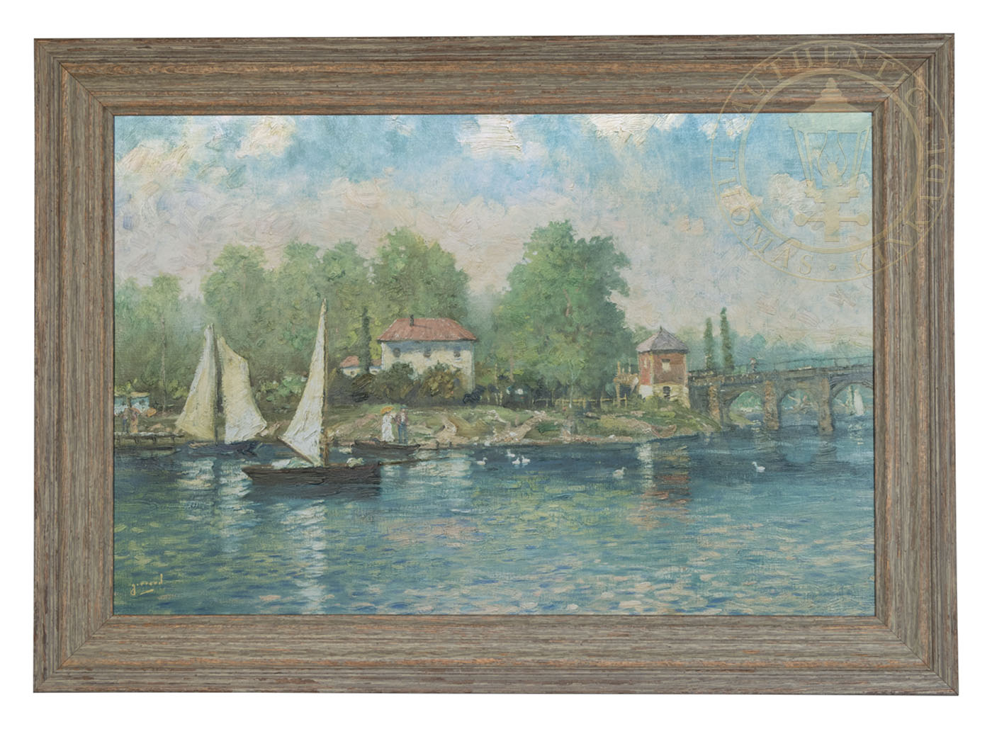 Summer\'s Morning, A – Impressions (Brittany Sage Green Frame)   The ...