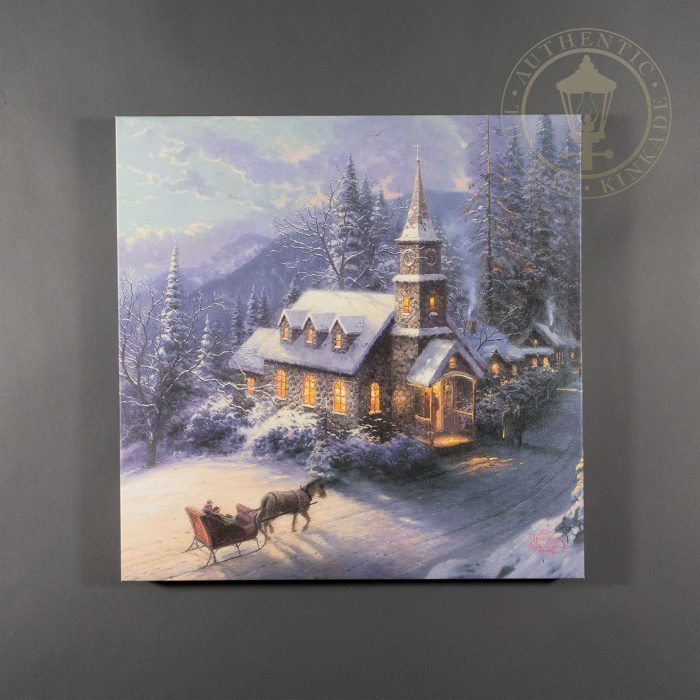 Sunday Evening Sleigh Ride – 20″ x 20″ Gallery Wrapped Canvas