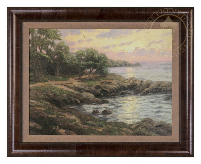 Sunset on Monterey Bay – Impressions (Belmont Olive Frame)