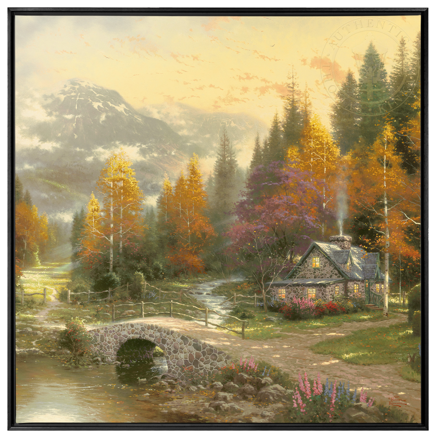 the valley of peace 36 x 36 framed canvas wall murals the