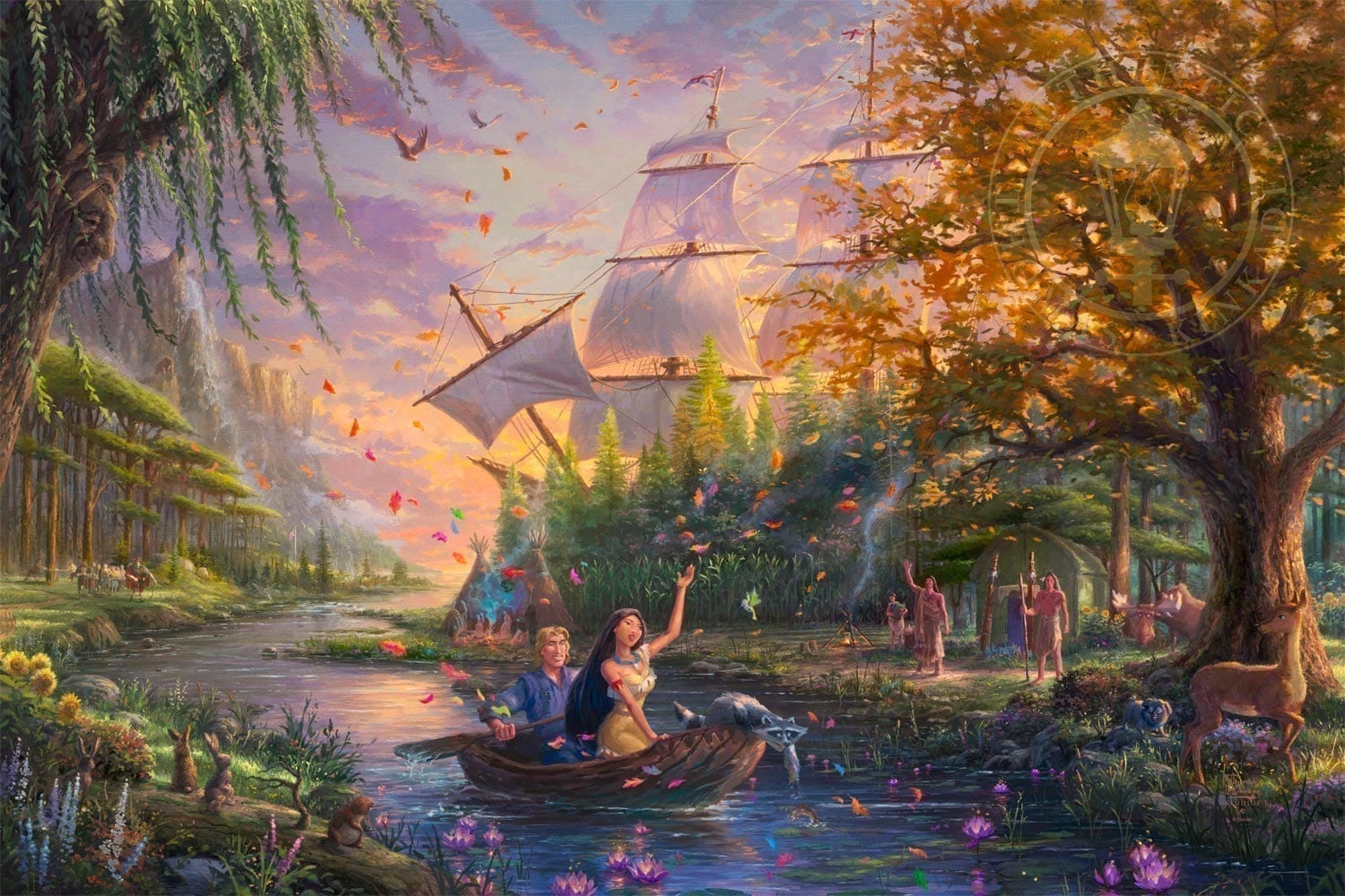 Pocahontas Limited Edition Art The Thomas Kinkade Company