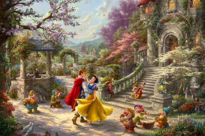 Disney Snow White Dancing in the Sunlight – Limited Edition Canvas