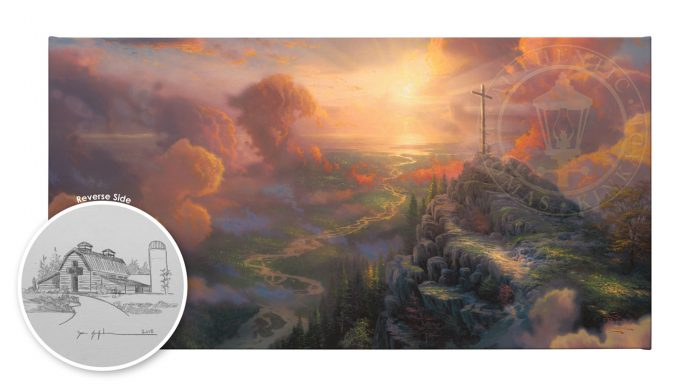 The Cross – 16″x 31″ Gallery Wrap Canvas (Hand sketch by Zac Kinkade on verso side)