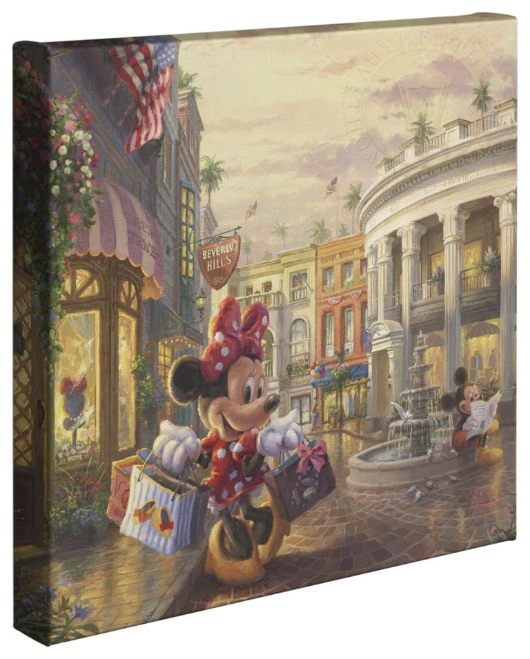 Minnie Rocks the Dots on Rodeo Drive – 14″ x 14″ Gallery Wrapped Canvas