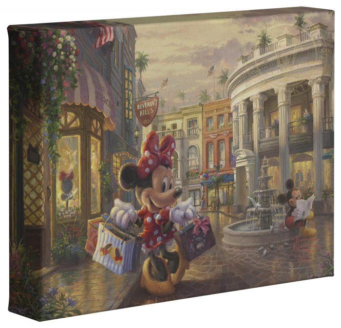 Minnie Rocks the Dots on Rodeo Drive – 8″ x 10″ Gallery Wrapped Canvas