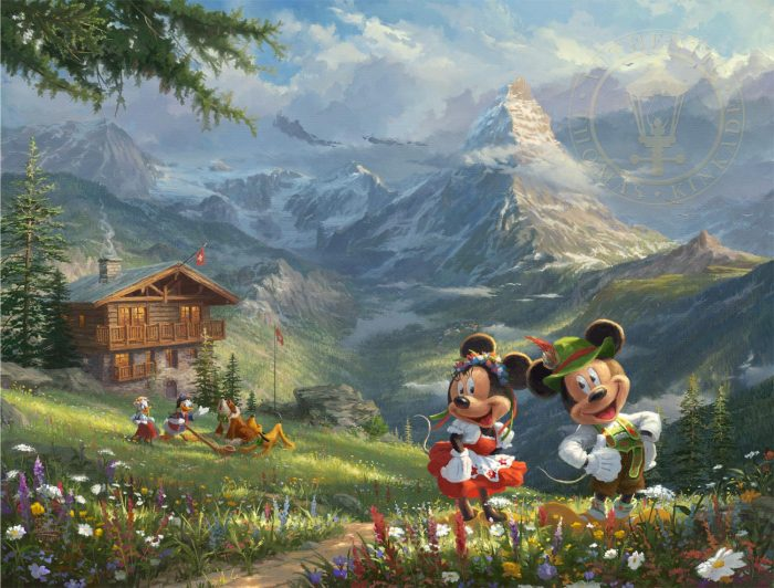 Mickey and Minnie in the Alps – Limited Edition Art