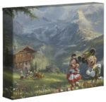 Mickey and Minnie in the Alps – 8″ x 10″ Gallery Wrapped Canvas