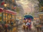 Mickey and Minnie in Paris – Limited Edition Canvas