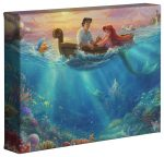 Disney Little Mermaid Falling in Love – 8″ x 10″ Gallery Wrapped Canvas