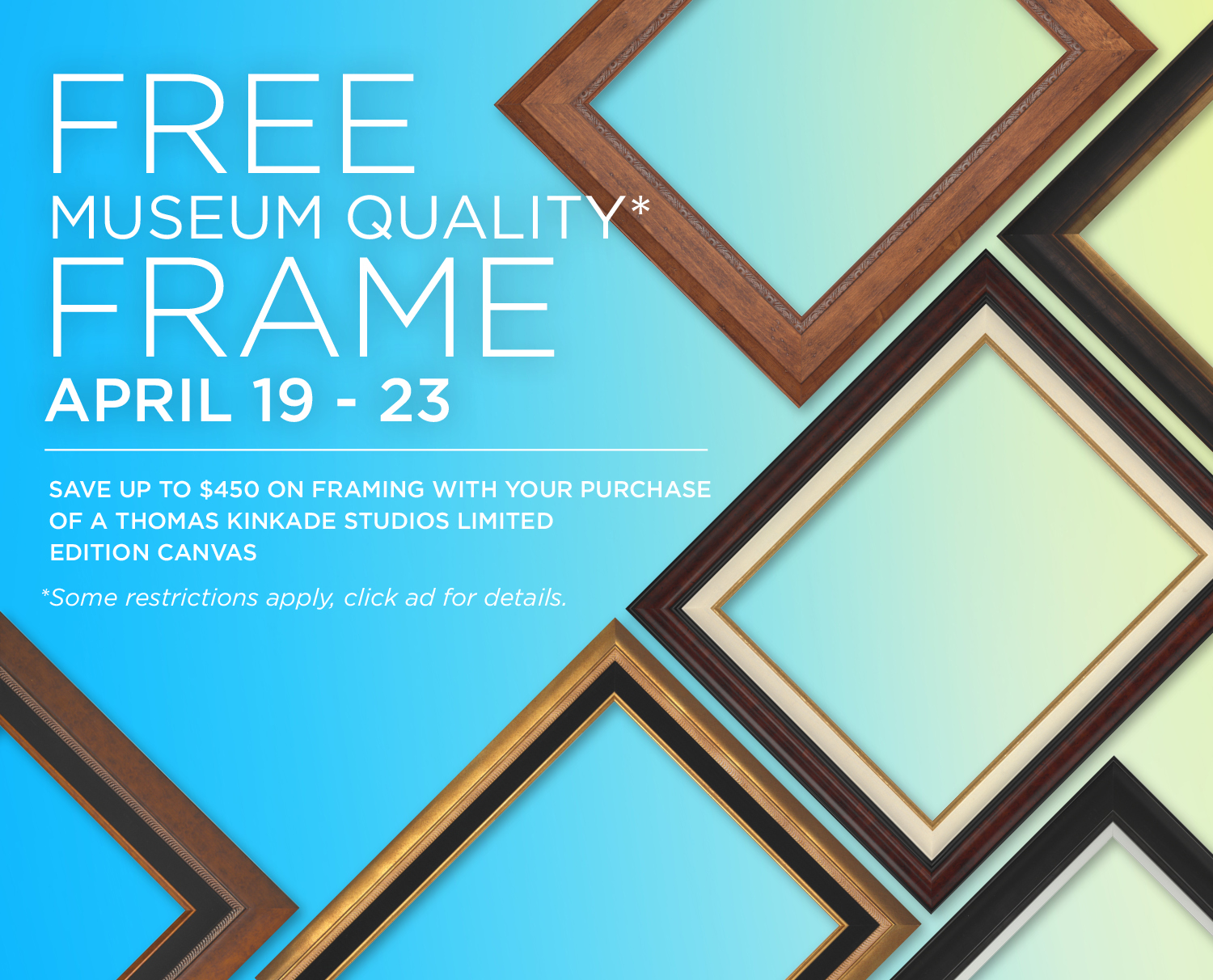Free Museum Quality Frame With Purchase of Thomas Kinkade Limited ...